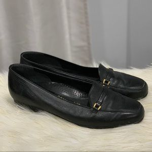 Easy Spirit black leather loafers shoes size 9B